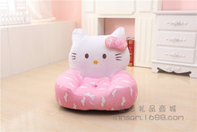 plush pink cloud cat children's sofa tatami toy lovely soft pink kitty floor seat cushion doll gift about 52x50cm