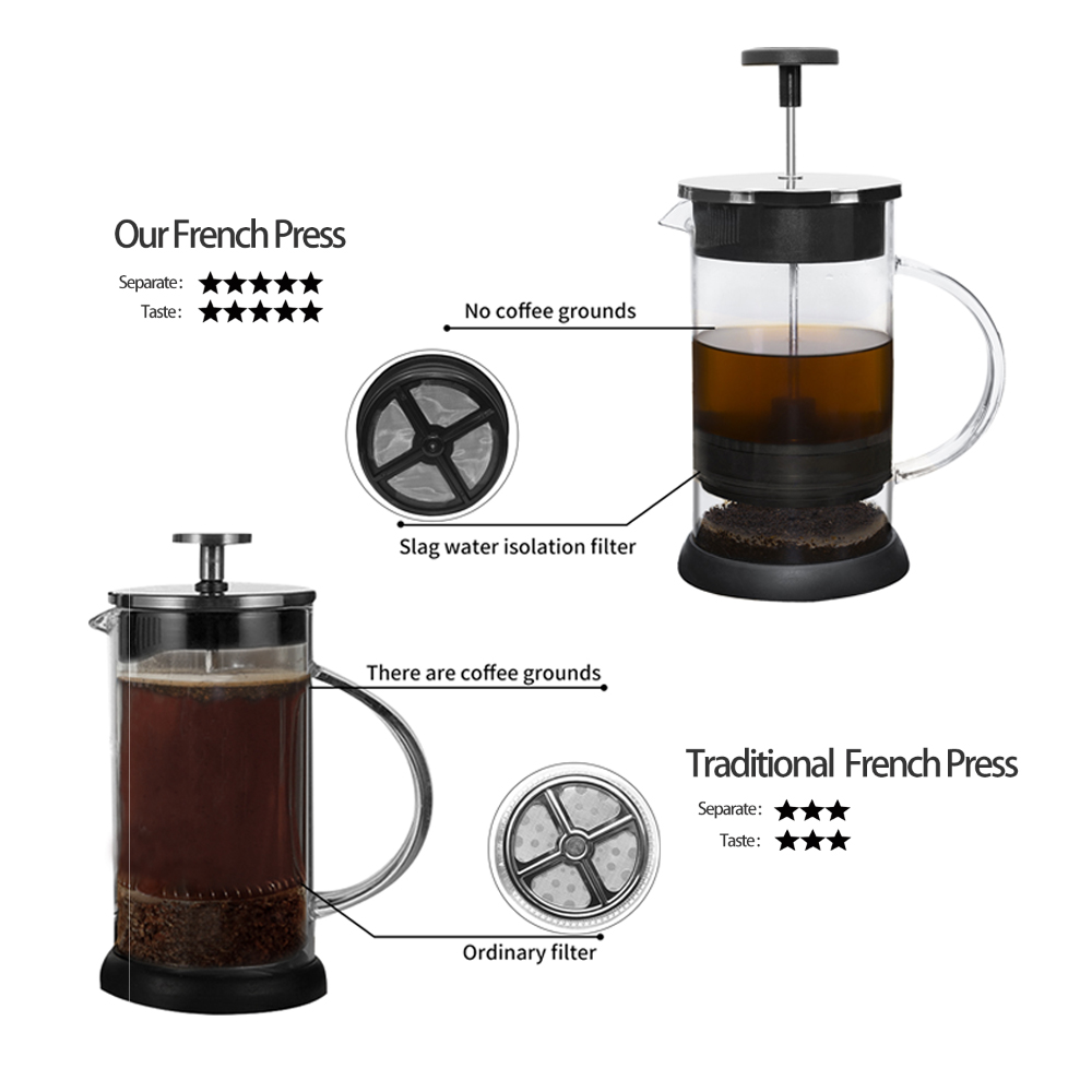 Stainless French Press Pot Coffee Maker Plunger Glass Tea Pots 1000ml For Free 3 Dolce Gusto Valentine In From Home
