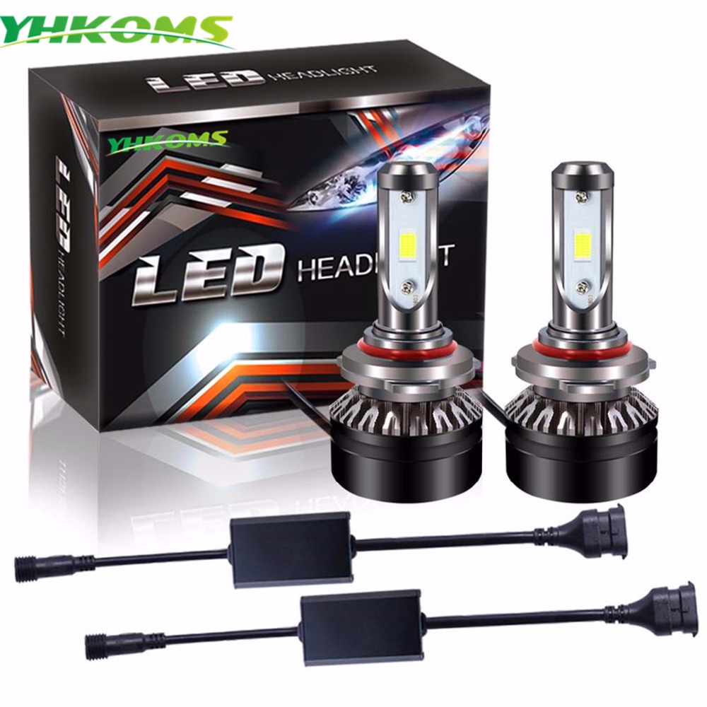 YHKOMS HB4 LED 9005 HB3 9006 Car <font><b>Light</b></font> Bulbs H1 H3 H4 H7 H8 H9 H11 9012 Auto Lamp 40W 5000LM Automobile Headlamp <font><b>Conversion</b></font> Kit