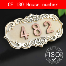 CE ISO Certification Door Plates House Number plastic ABS retro electroplated Number 3 to 4 Digits Customized ce iso certification door plates house number plastic abs retro electroplated number 3 to 4 digits customized