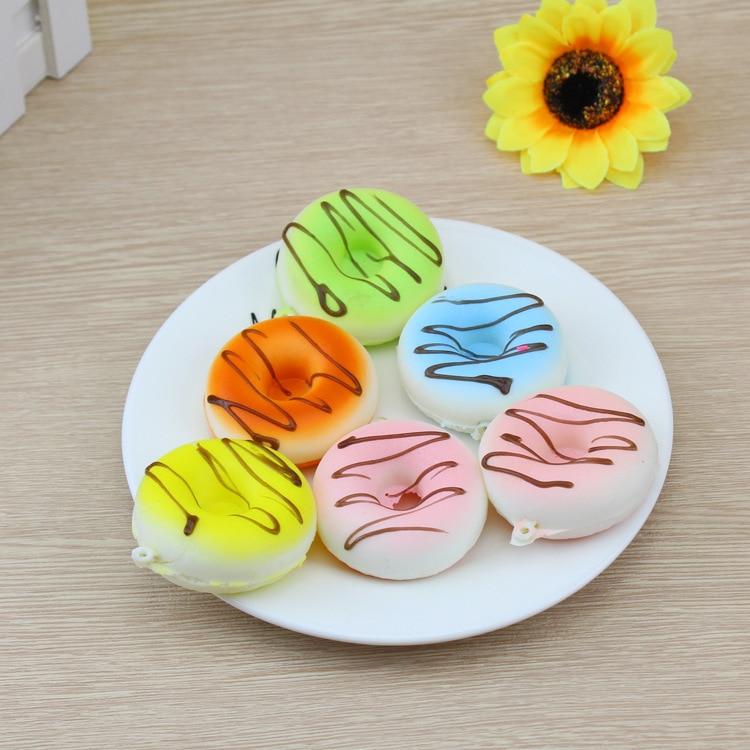 10pcs Cute Squishy Doughnuts Rising Squeeze Healing Fun Stress Reliever Decor Toy Gift Pendant Packaging Wholesale Dropshipping