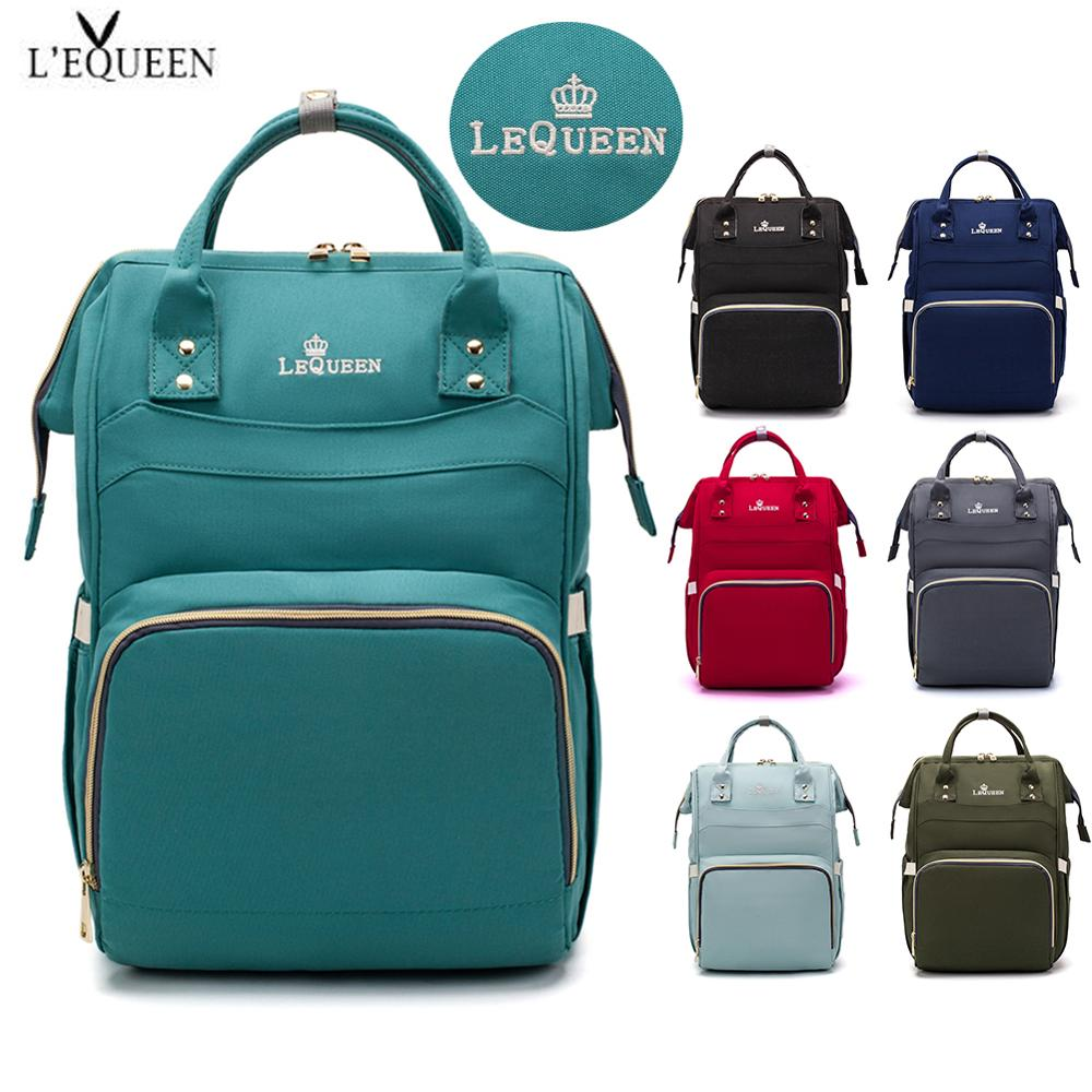 LEQUEEN Nappy Backpack Bag  Travel Diaper Bags Mummy Large Capacity Bag Waterproof Outdoor Mom Baby Multi-function For Baby Care