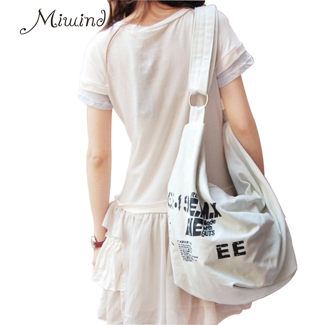 2017 Black Korean Over Shoulder Bags Women Female Irregular Canvas Crossed Body Crossbody Handbags Bag Ladies N Messenger Bags