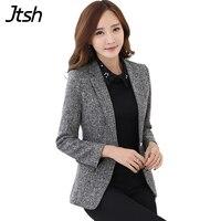 Autumn Winter Women Blazers and Jackets Plus Size 3XL One Button Blazer Feminino Mujer 2019 Office Blazers for Women Coat Tops