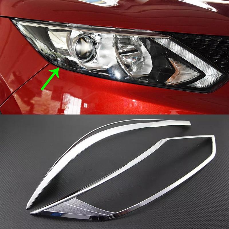 OUBOLUN ABS voiture accessoires kits de carrosserie chrome couverture de phare pour Nissan Qashqai 2016