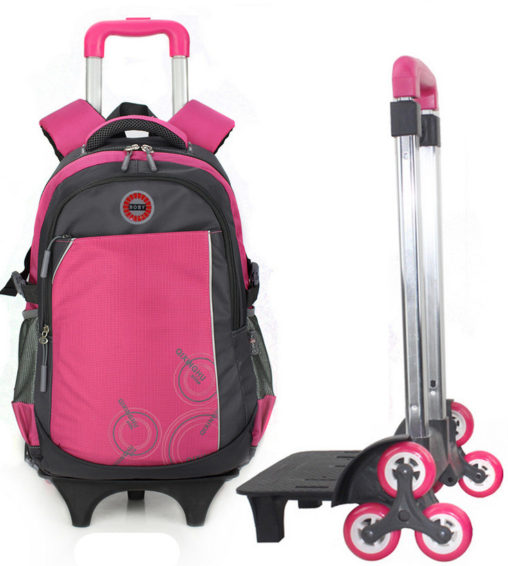 New Children Backpack 3 Wheels School bags Stair Climbing Travel ...