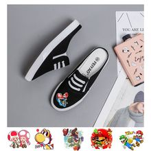 Mario Bros/Super Game Cool Cartoon on Prints Womens Low Top Comfortable and Soft Fashion Shoe A193161
