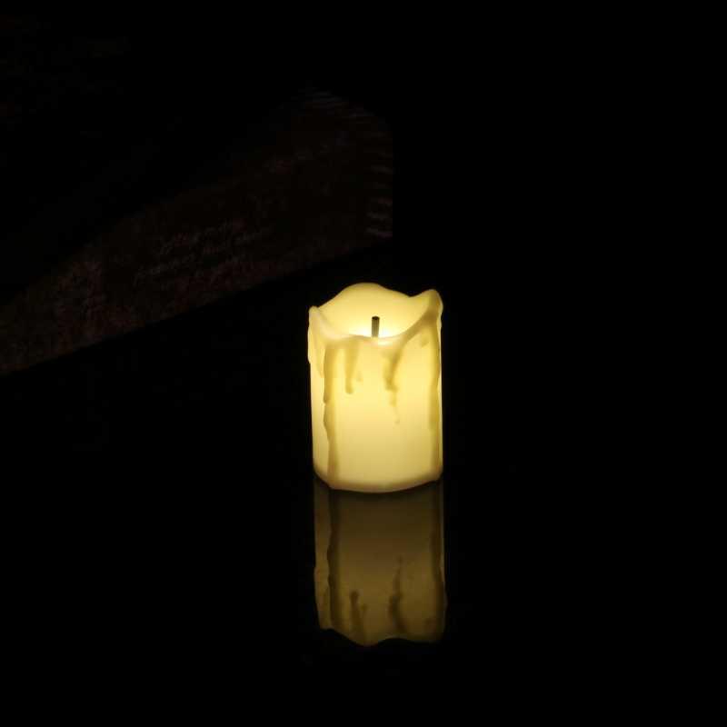 Flameless LED מהבהבים חשמליים תה אור נרות חתונת חג מולד קישוט