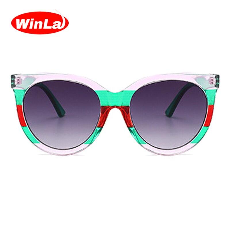 486a87723e6 Winla Fashion Design Classic Cat Eye Sunglasses Women Retro Candy ...