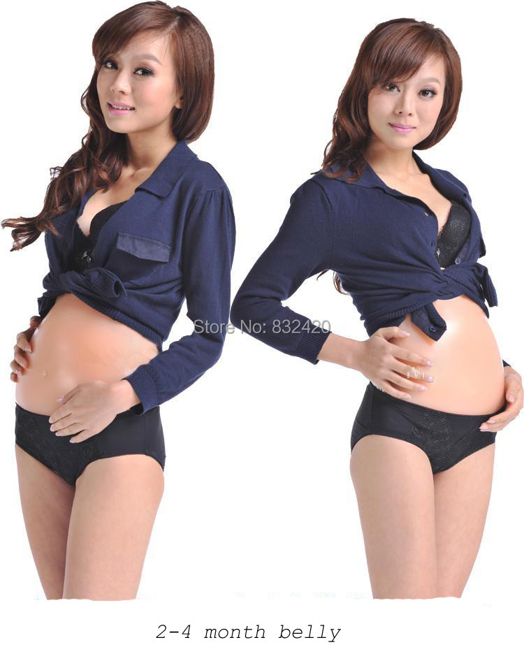 2~4 month fake belly silicone tummy silicone baby bump drop shipping wholesale