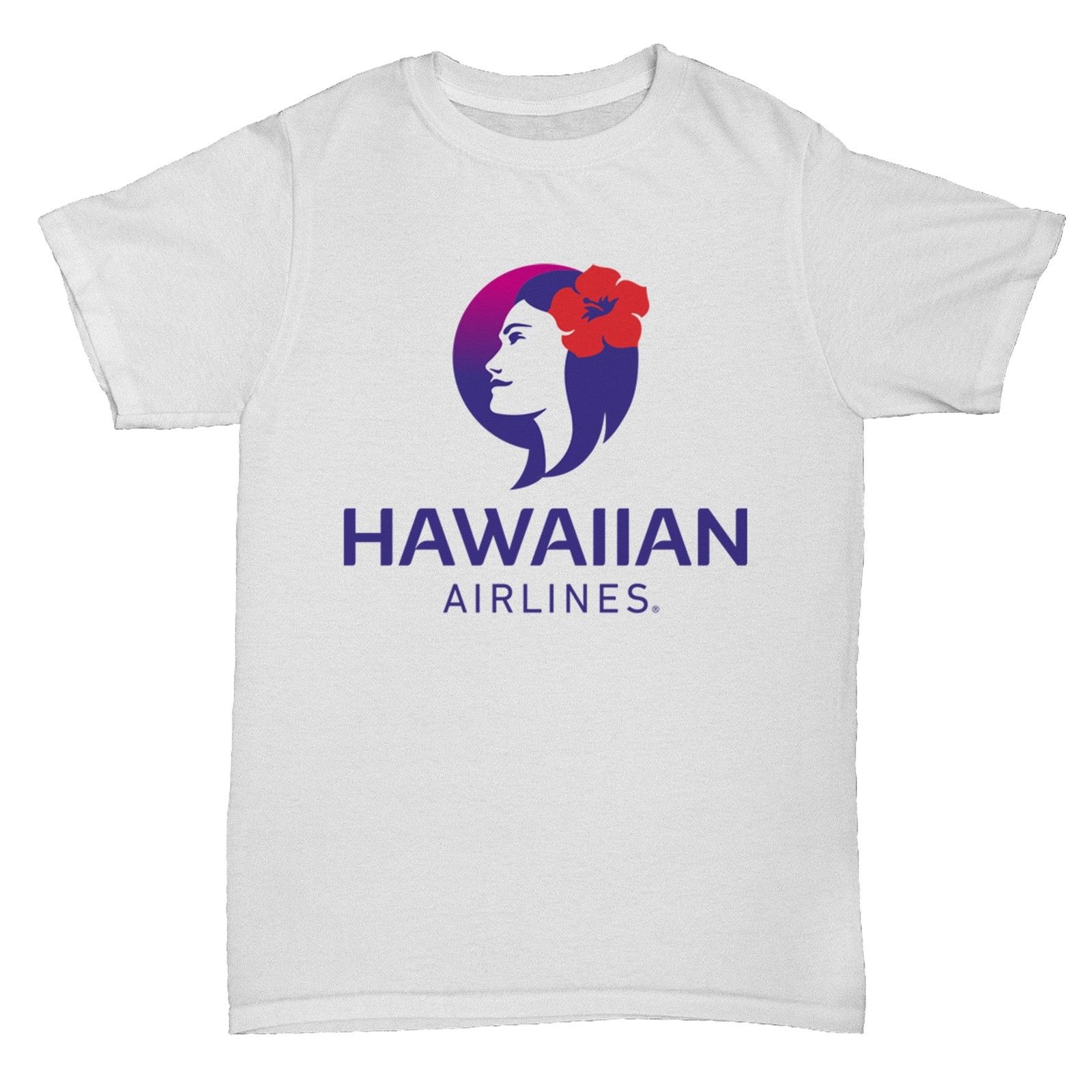 HAWAIIAN AIRLINES RETRO AEROPLANE BOAC PAN AM T SHIRT O Neck Shirt Plus Size T-Shirt O-Neck Stylish Casual Printed Tee