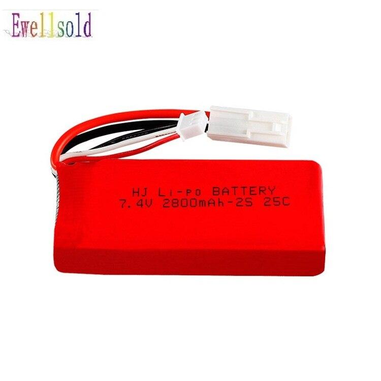 Ewellsold bateria 7.4 mAh 1500 V/2800 mah/carregador USB Para FT009 controlboat Remoto lancha bateria Lipo 7.4 mah 1500 V bateria 2 s
