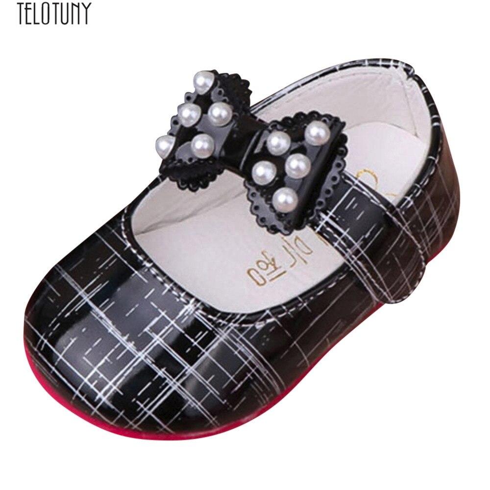 Telotuny Mädchen Baby Prinzessinnen Schuhe Bogen Weichen Streifen Perlen Turnschuhe Großes Geschenk Zu Baby, Weiche Und Gefühl Z0829 Einfach Zu Verwenden