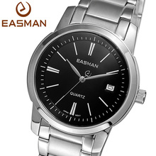 EASMAN Brand Wristwatch Men Watches Fashion Casual Calendar Watch 2016 New Stainless Black Man Quartz Watch For Mens