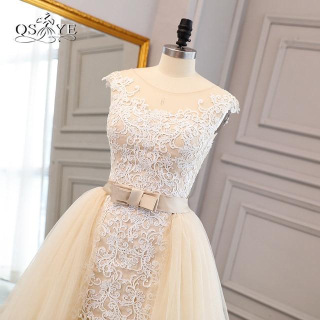 Online Shop 2018 New Champagne Wedding Dresses Lace Bridal Dress ...
