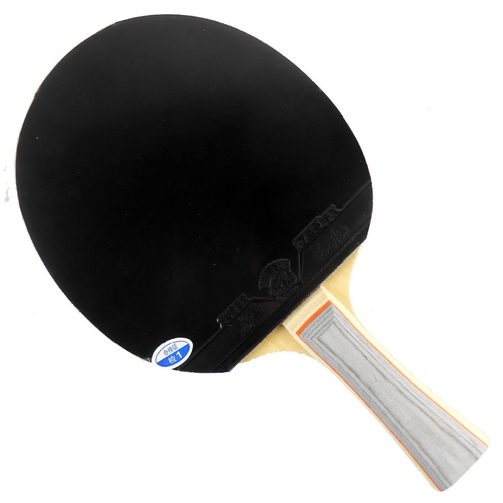 Pro Table Tennis Combo Paddle Racket 729 C-5 Blade Long Shakehand-FL with 2x 729 Super FX Rubbers