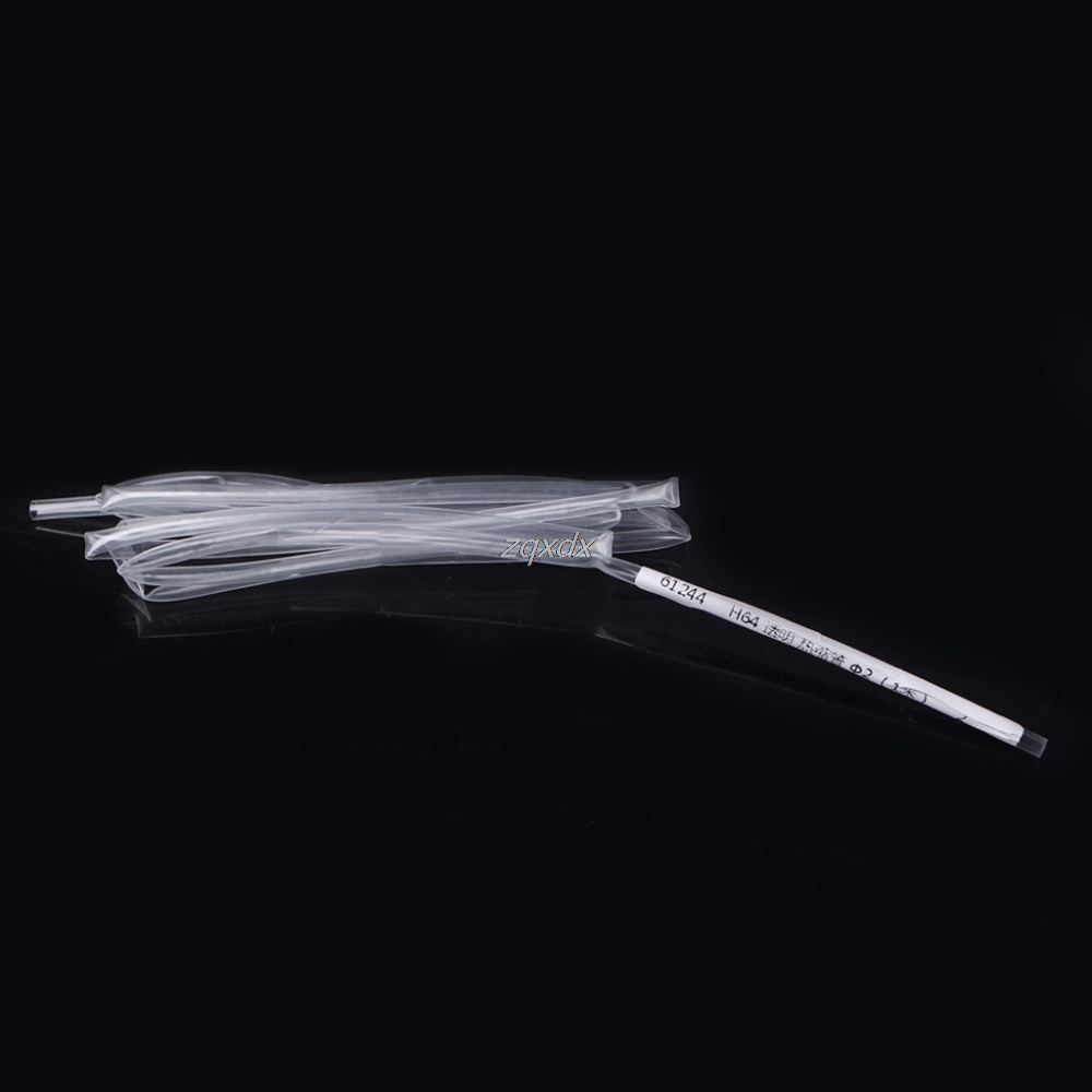 Dia 2/3/4/5/6/8/10mm 1M 2 : 1 Heat Shrink Tube Tubing Sleeve Transparent Wrap Wire Insulation Materials Elements Z15 Drop ship