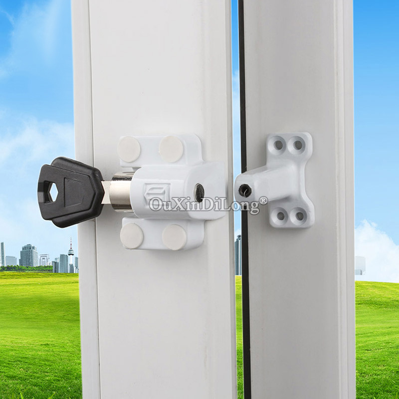 5PCS Child Safety Zinc Alloy Lock for the Aluminum Hinged Window Safe Lock For Aluminum Casement Window JF1636 in Locks from Home Improvement