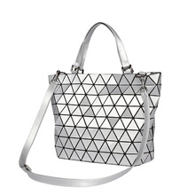 Designer Matter Triangle Geometric Tote Bags for Women 2019 PU Leather Chic Stylish Shopping Handbags with Crossbody Strap Bags jobon stylish oil lighter with leather strap red