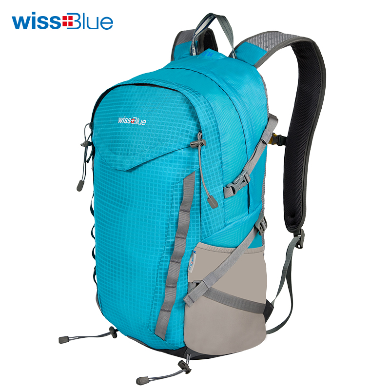 Wissblue Waterproof Travel Backpack 28L,Trekking Tourist Backpack,Men Women's Sport Bag Outdoor Climbing Bag With Rain Cover cycling multi function outdoor sports backpack bike bag 22l motorcycle rucksack backpack bag with waterproof rain cover