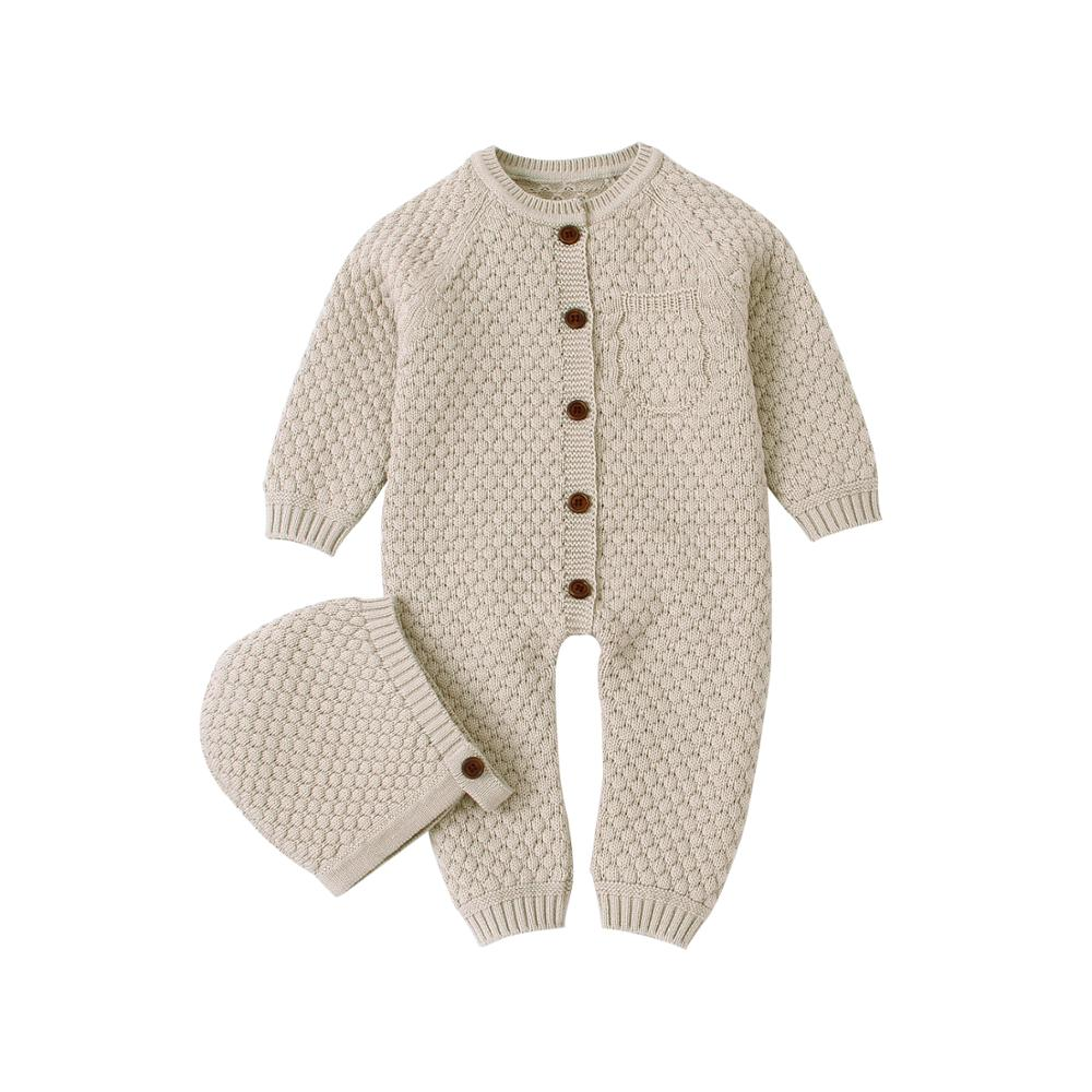 Baby Girls   Rompers   Autumn Casual Newborn Clothing Infantil Bebes Outfits Solid Knitted Children's Overalls Long Sleeves Sweaters