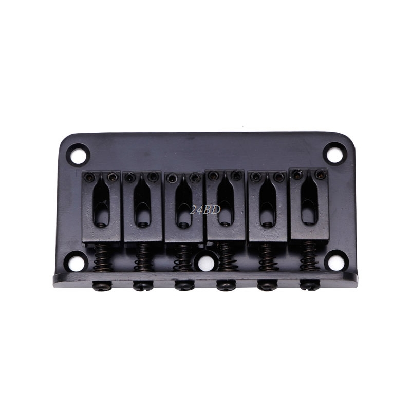 Guitar Parts Guitar Hardtail Bridge For Electric Guitar 6 String Black With Screws Musical Instruments Gear J24