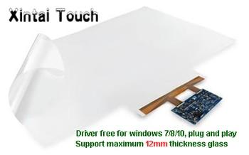 "1PCS 15.6"" capacitive touch screen foil film +1PCS 49"" 10 points interactive touch foil for touch monitor, touch kiosk"