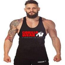 2018 Men Vest Clothing Stringer Bodybuilding and Fitness Print Super GORILLA Men Singlets Cotton Shirts Clothes