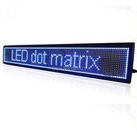 17x3,6 дюймов программируемый светодиодный прокрутки знак перемещения сообщение Дисплей Borad для рекламы