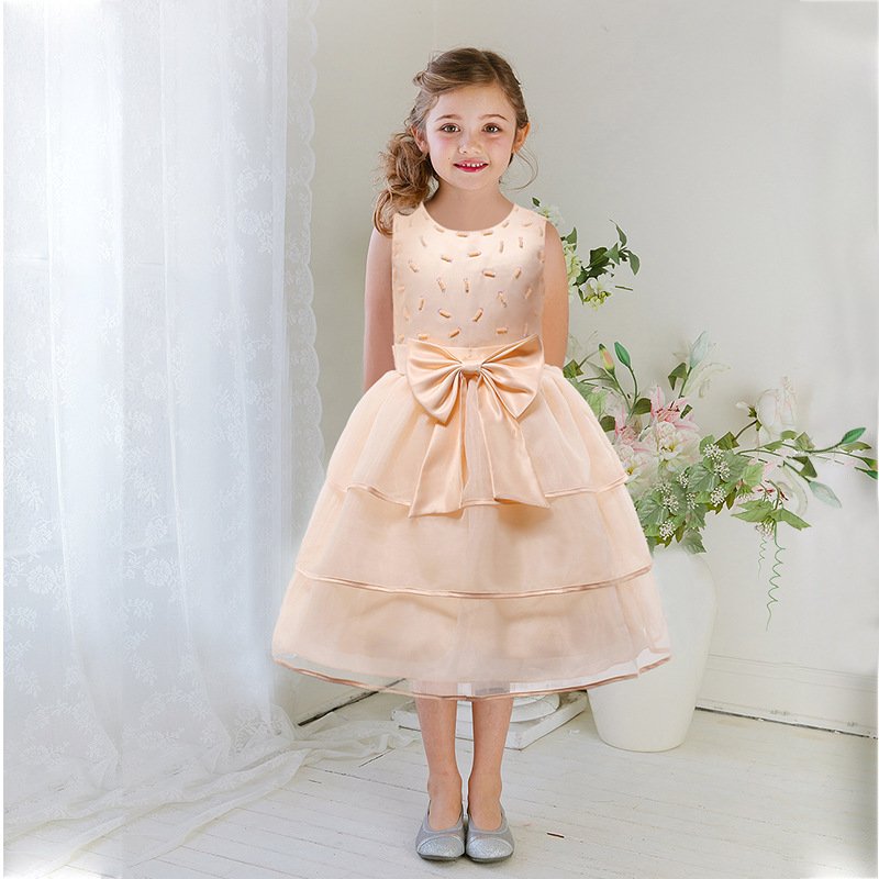 Girl Dress 2017 Sleeveless Kid Dresses Girls Clothes Party Princess Vestidos Nina 6 7 8 year birthday Dress Christmas baptism baby girl baptism dress sleeveless flowers wedding vestido infants girls clothes princess dresses 3 10 year birthday party dress