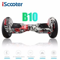 IScooter 10 Inch Electric Hoverboards With Bluetooth Speaker Carry Bag Self Balancing Scooter For Adult Kids