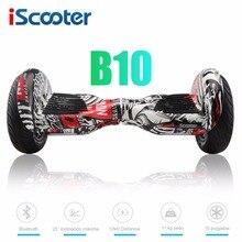 IScooter 10 zoll Elektrische Hoverboards mit Bluetooth Lautsprecher Tragetasche Selbstausgleich Roller für Erwachsene Kinder B10