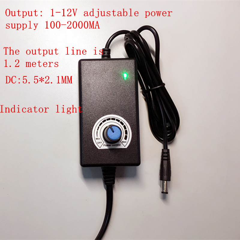 100PCS output 1-12V adjustable power supply 12V 100-2000MA switching stepless voltage regulation power supply DC12V 100-240VAC nc dc dc dc adjustable voltage regulator module integrated voltage meter 8a voltage stabilized power supply