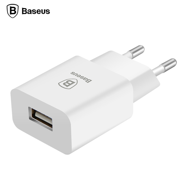 Baseus EU Plug USB Charger 5V2A Fast Charging Adapter Portable Travel Wall Mobile Phone Charger For iPhone 7 6 Samsung s7 Tablet