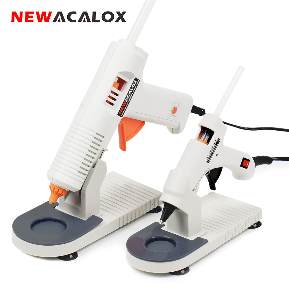 NEWACALOX 100-240V Hot Melt Glue Gun With 7mm/11mm Hot Melt Glue Stick 20W/150W Thermal Glue Gun Home School DIY Tools With Base