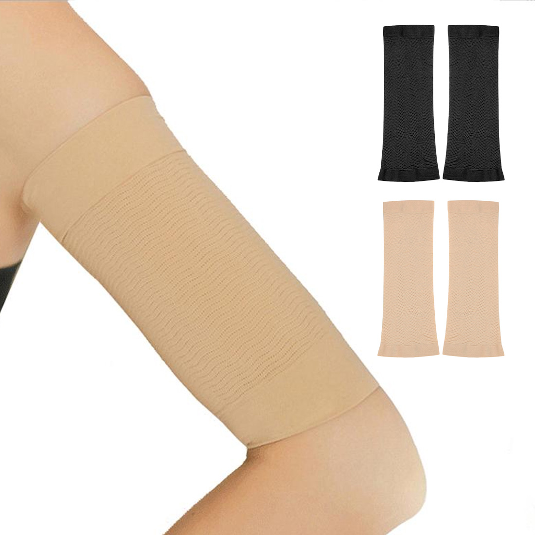 1 Pair Of Sports Arm Sleeves Ultra-thin Shape Body Burning Fat Elastic Band Compression Arm Weight Loss Sleeve Fitness And Sport