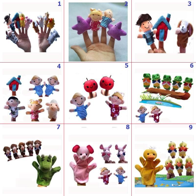 Dog Animals Hand Puppets Plush Stuffed Doll Nursery Kids Education Toys Q