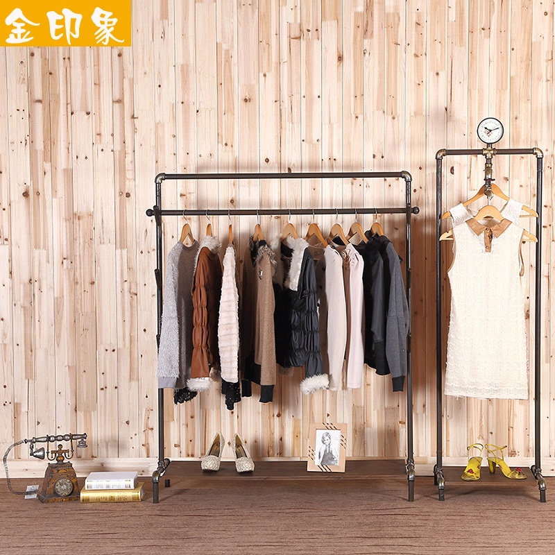Online Shop Retro do the old style industrial pipe racks display clothing  store shelf garment rack wall Floor stand | Aliexpress Mobile