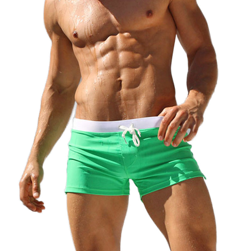 Mens Swim Shorts Swimwear Swimming Beach Wear Bikini Underwear Boxer Brief Trunk