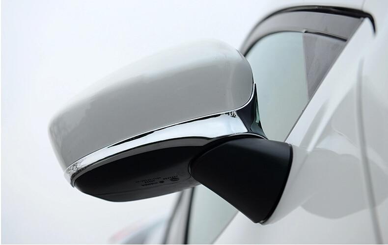 Көліктің артқы көрінісіне арналған әйнек қақпағы, Mazda CX-5 2013-2014 үшін артқы айнаның автоматты әрлеуі, хром, ABS, 2 дана / лот