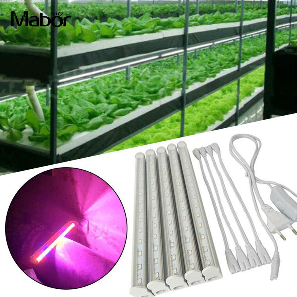 Plants Growth Lights Hydroponic Greenhouse Lamp NEW US Plug Convenient Indoor LED Strip Bar