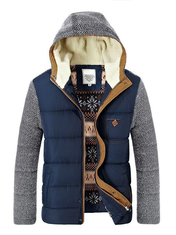 3XL chaquetas de invierno de los hombres abrigos de lana gruesa Collar chaquetas de los hombres casuales de hombre abrigo cálido