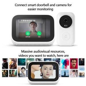 Image 4 - Оригинальный динамик Xiaomi AI с сенсорным экраном, Bluetooth 5,0, 3,97 дюймов, цифровой дисплей, будильник, Wi Fi, умное соединение, Mi динамик