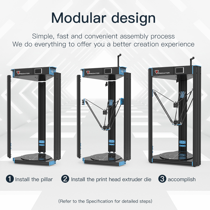 Anycubic Predator Delta Kossel 3d Drucker Plus Größe 370*370*455mm Pre-montiert Ultrabase Pro 3d Drucker Kit Impresora 3d Bequem Zu Kochen 3d-drucker Und 3d-scanner Büroelektronik