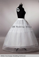 Free shipping 2 hoops Wedding petticoat with lace edge High Quality