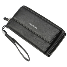 Mens wallet business casual large-capacity clutch bag lychee pattern multi-card hand latest explosion