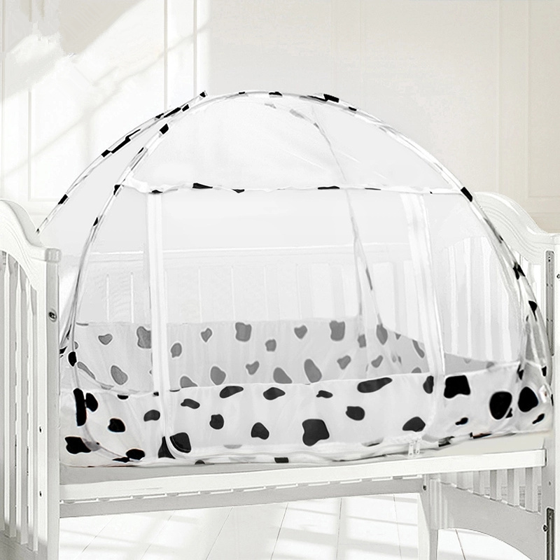 120*80 cm Cute Baby Bed Mosquito Net Folding Mosquito Netting For Children Bed Portable Baby Bed Canopy Baby Crib Netting Tent double door type crib yurt netting larger space baby bed canopy travel kids camping mesh tent folding easily baby mosquito net