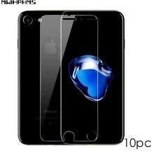 10 шт., закаленное стекло для Iphone8, 7, 6, 6s plus, 5, 5S, SE, защита экрана, Взрывозащищенная прозрачная пленка для iPhone xs, xsmax, XR