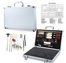 Acessórios de paintball rifle pistola pistola tubo ferramentas limpeza kit mais limpo com caixa caso conveniente marcadores paintball