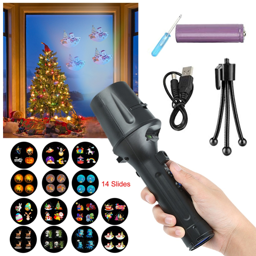 LED Projector Flashlight Christmas Projector Lights 14 Slides Projection Holiday Lights Battery-Operated 2 in 1 Decoration LightLED Projector Flashlight Christmas Projector Lights 14 Slides Projection Holiday Lights Battery-Operated 2 in 1 Decoration Light